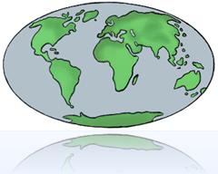 Stretched globe