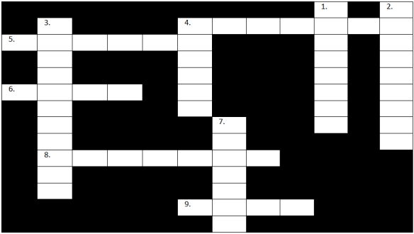 Educational crossword about mental health