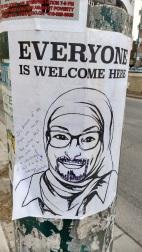 Vandalised Photo of Muslim Women 1