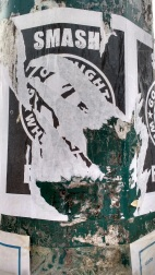 Vandalised Smash Fascism Poster 3