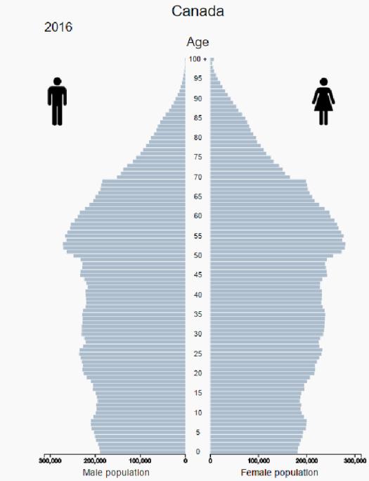 Canada population pyramid 2016