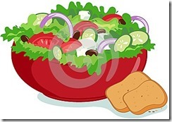 Vege bowl with bread
